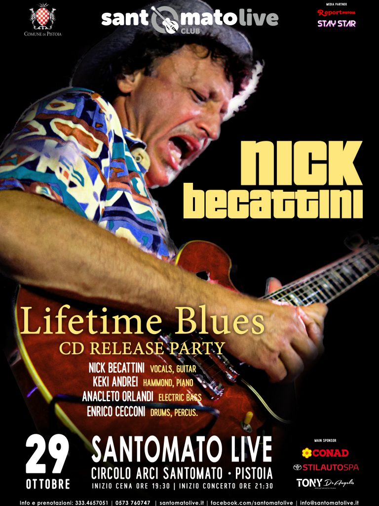 Nick Becattini | Lifetime Blues | CD release party